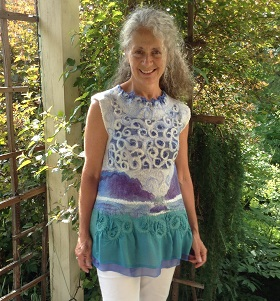 A Nuno Felt Top by Marjolaine Arsenault