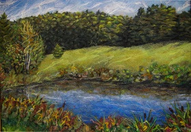 Learn how to felted landscapes